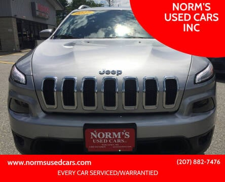 2017 Jeep Cherokee for sale at NORM'S USED CARS INC in Wiscasset ME