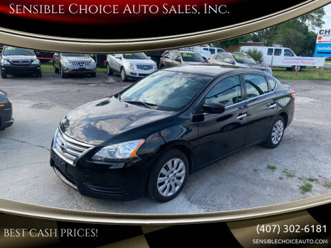 2013 Nissan Sentra for sale at Sensible Choice Auto Sales, Inc. in Longwood FL