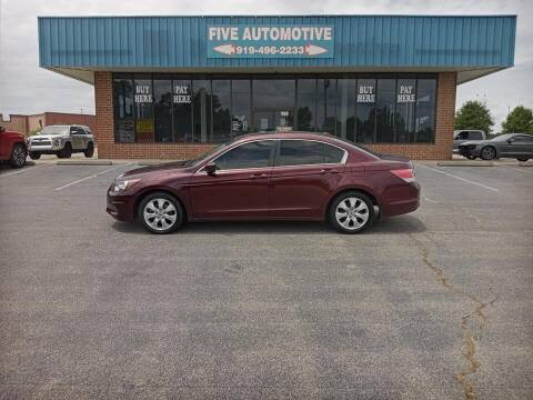2010 Honda Accord for sale at Five Automotive in Louisburg NC