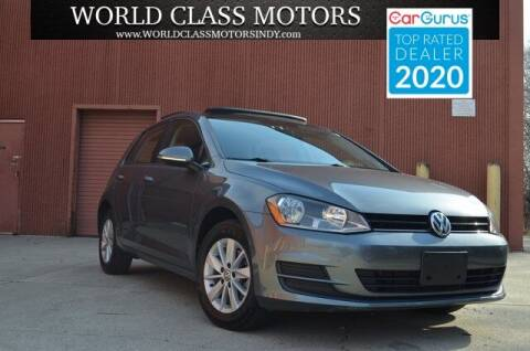 2015 Volkswagen Golf for sale at World Class Motors LLC in Noblesville IN