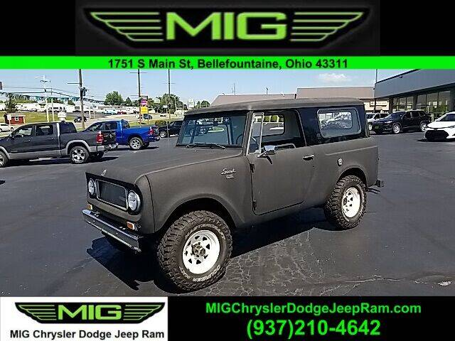 1969 International Scout for sale at MIG Chrysler Dodge Jeep Ram in Bellefontaine OH