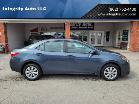 2014 Toyota Corolla for sale at Integrity Auto LLC - Integrity Auto 2.0 in St. Albans VT