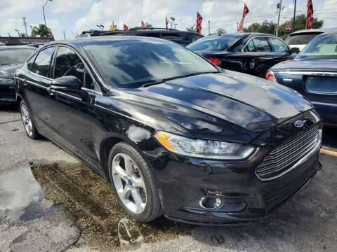 2016 Ford Fusion for sale at America Auto Wholesale Inc in Miami FL