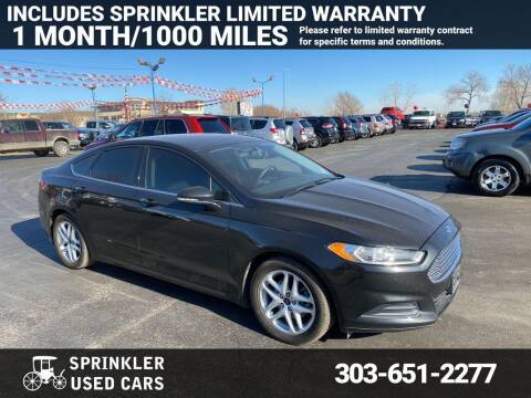 2015 Ford Fusion for sale at Sprinkler Used Cars in Longmont CO