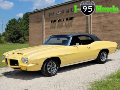 1971 Pontiac GTO for sale at I-95 Muscle in Hope Mills NC