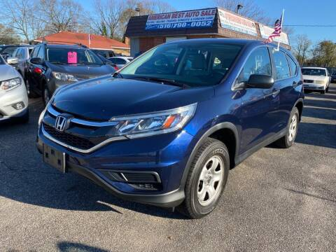 2015 Honda CR-V for sale at American Best Auto Sales in Uniondale NY