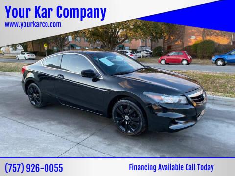 2012 Honda Accord for sale at Your Kar Company in Norfolk VA