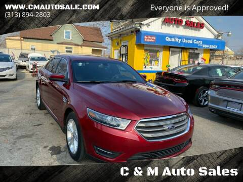 2016 Ford Taurus for sale at C & M Auto Sales in Detroit MI
