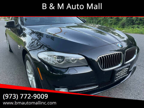 2012 BMW 5 Series for sale at B & M Auto Mall in Clifton NJ