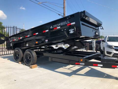2022 Iron Bull 16' Dump Trailer for sale at CRUMP'S AUTO & TRAILER SALES in Crystal City MO