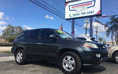 2003 Acura MDX for sale at AUTO PROVIDER in Fort Lauderdale FL