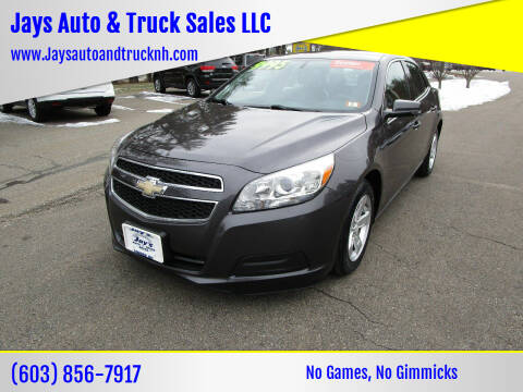 2013 Chevrolet Malibu for sale at Jays Auto & Truck Sales LLC in Loudon NH