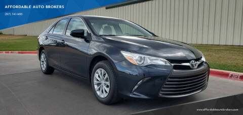 2017 Toyota Camry for sale at AFFORDABLE AUTO BROKERS in Keller TX