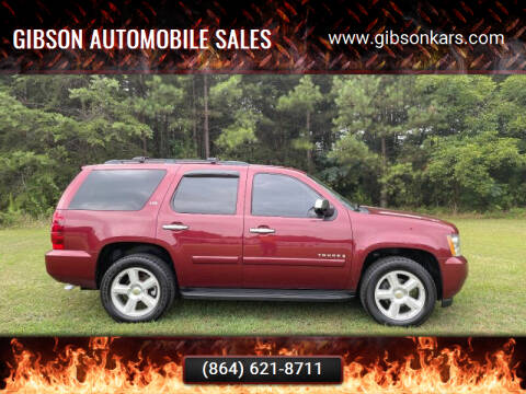 2008 Chevrolet Tahoe for sale at Gibson Automobile Sales in Spartanburg SC