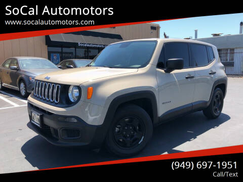 2015 Jeep Renegade for sale at SoCal Automotors in Costa Mesa CA