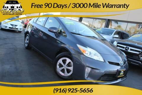 2015 Toyota Prius for sale at West Coast Auto Sales Center in Sacramento CA