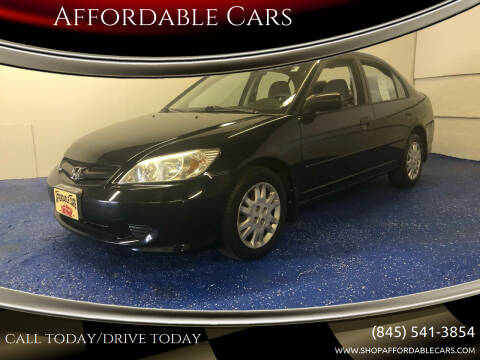 2005 Honda Civic for sale at Affordable Cars in Kingston NY