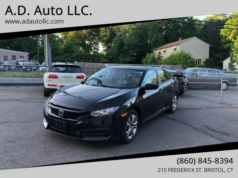 2017 Honda Civic for sale at ADAuto LLC in Bristol CT
