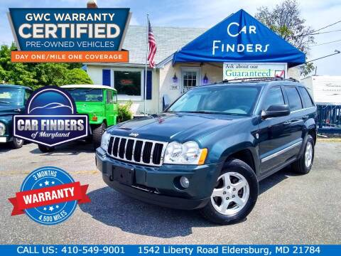 2005 Jeep Grand Cherokee for sale at CAR FINDERS OF MARYLAND LLC - Certified Cars in Eldersburg MD