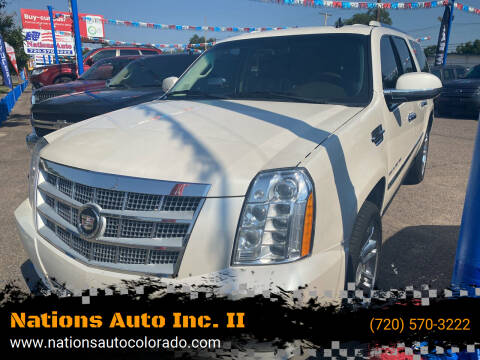 2011 Cadillac Escalade ESV for sale at Nations Auto Inc. II in Denver CO