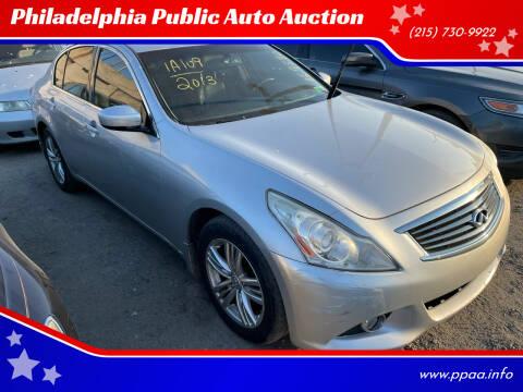 2013 Infiniti G37 Sedan for sale at Philadelphia Public Auto Auction in Philadelphia PA