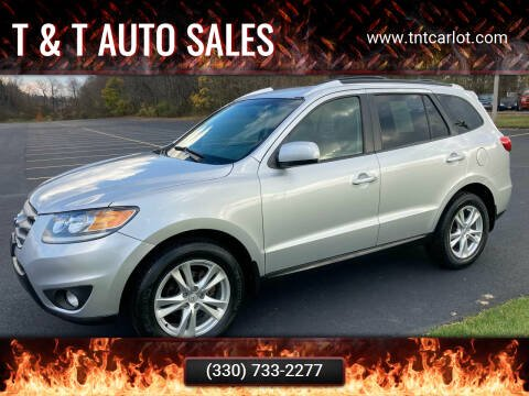 2012 Hyundai Santa Fe for sale at T & T Auto Sales in Akron OH