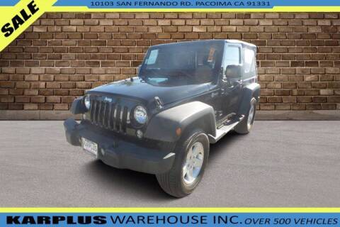 2017 Jeep Wrangler for sale at Karplus Warehouse in Pacoima CA