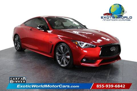 2019 Infiniti Q60 for sale at Exotic World Motor Cars in Addison TX