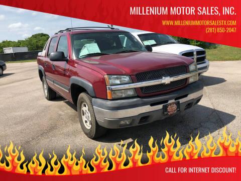 2004 Chevrolet Avalanche for sale at MILLENIUM MOTOR SALES, INC. in Rosenberg TX