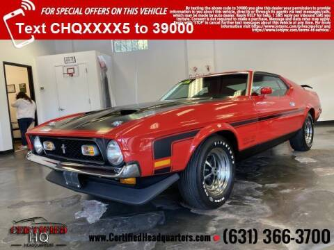 1971 Ford Mustang for sale at CERTIFIED HEADQUARTERS in Saint James NY