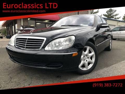 2004 Mercedes-Benz S-Class for sale at Euroclassics LTD in Durham NC
