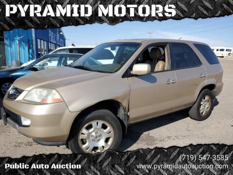 2002 Acura MDX for sale at PYRAMID MOTORS - Pueblo Lot in Pueblo CO