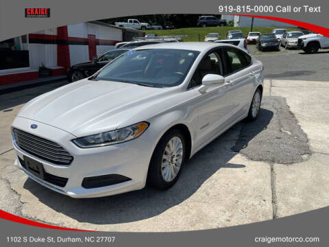 2016 Ford Fusion Hybrid for sale at CRAIGE MOTOR CO in Durham NC