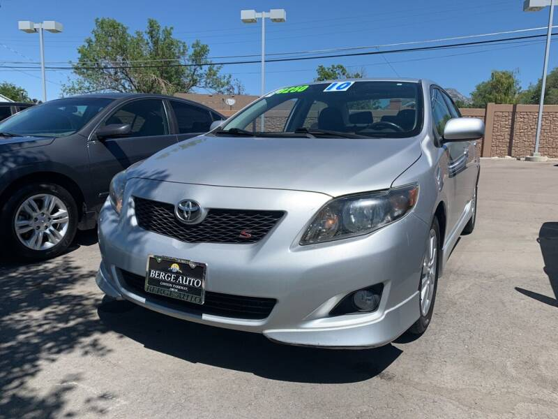 2010 Toyota Corolla for sale at Berge Auto in Orem UT
