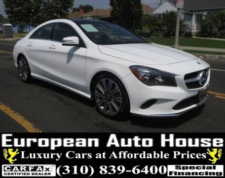 2018 Mercedes-Benz CLA for sale at European Auto House in Los Angeles CA