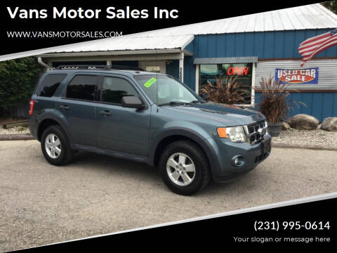 2011 Ford Escape for sale at Vans Motor Sales Inc in Traverse City MI