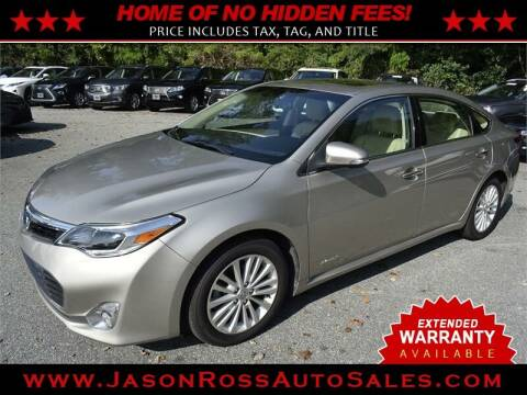 2015 Toyota Avalon Hybrid for sale at Jason Ross Auto Sales in Burlington NC