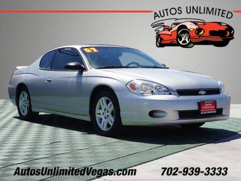 2007 Chevrolet Monte Carlo for sale at Autos Unlimited in Las Vegas NV