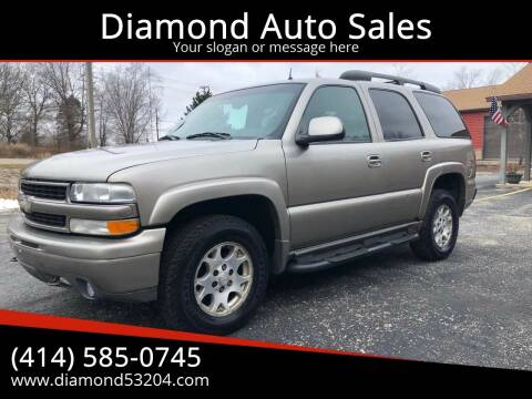 2002 Chevrolet Tahoe for sale at Diamond Auto Sales in Milwaukee WI