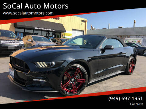 2016 Ford Mustang for sale at SoCal Auto Motors in Costa Mesa CA