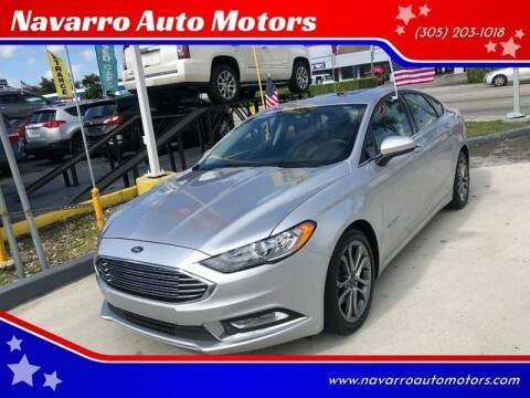 2017 Ford Fusion Hybrid for sale at Navarro Auto Motors in Hialeah FL