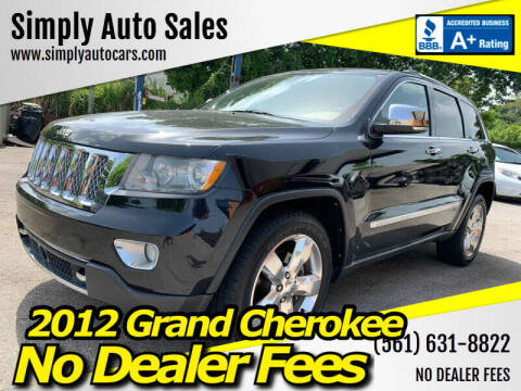 2012 Jeep Grand Cherokee for sale at Simply Auto Sales in Palm Beach Gardens FL