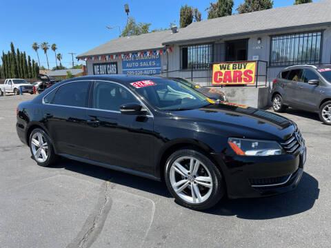 2014 Volkswagen Passat for sale at Blue Diamond Auto Sales in Ceres CA