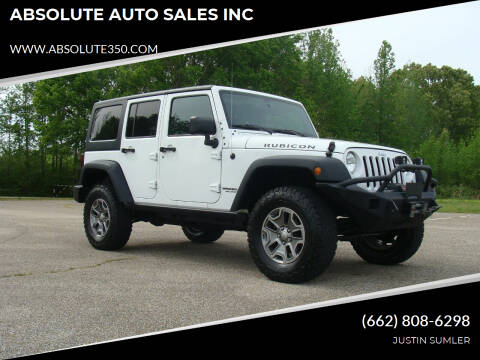 2016 Jeep Wrangler Unlimited for sale at ABSOLUTE AUTO SALES INC in Corinth MS