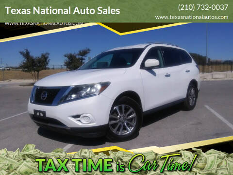2013 Nissan Pathfinder for sale at Texas National Auto Sales in San Antonio TX