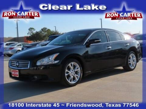 2012 Nissan Maxima for sale at Ron Carter  Clear Lake Used Cars in Houston TX