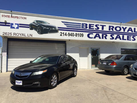 2013 Acura TL for sale at Best Royal Car Sales in Dallas TX
