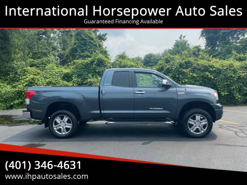 2010 Toyota Tundra for sale at International Horsepower Auto Sales in Warwick RI