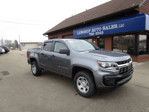 2021 Chevrolet Colorado for sale at LeBoeuf Auto Sales in Waterford PA