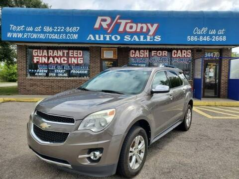 2011 Chevrolet Equinox for sale at R Tony Auto Sales in Clinton Township MI